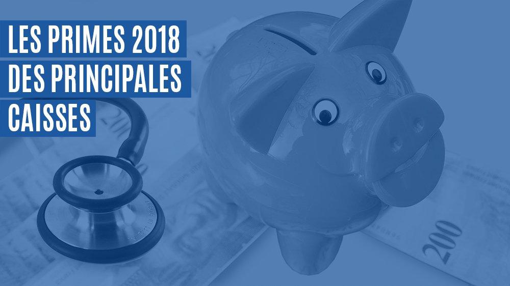 Les primes 2018 des principales caisses pour les cantons de Neuchâtel, du Jura et de Berne.