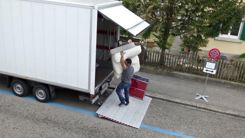 Immobilier: le nombre de déménagements a augmenté en Suisse en 2017