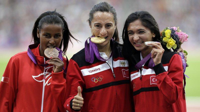 Asli Cakir Alptekin (au centre) avait décroché l'or aux JO d'été de Londres en 2012.
