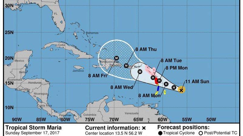 L'ouragan Maria menace la Guadeloupe et Saint-Martin
