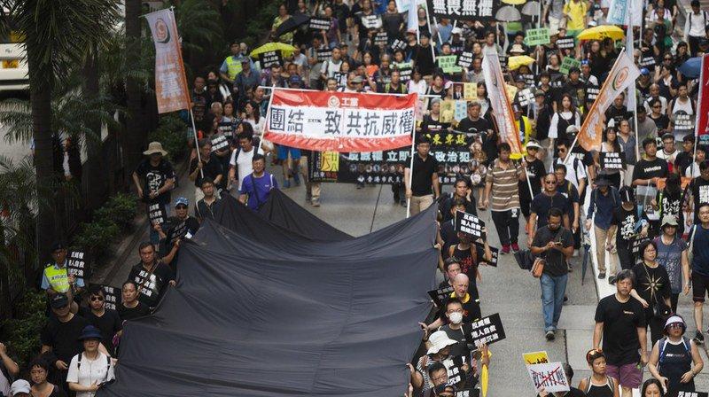 Manifestation à Hong Kong contre l'autoritarisme de Pékin