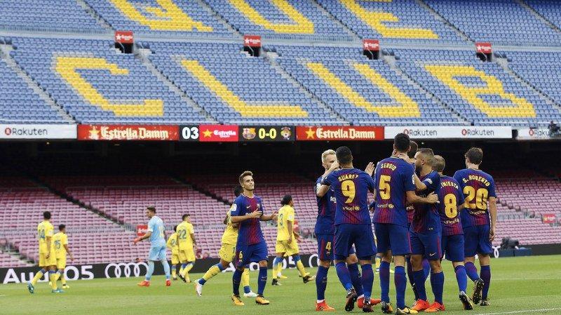 Liga: le FC Barcelone s'impose 3-0 face à Las Palmas dans un Camp Nou désert
