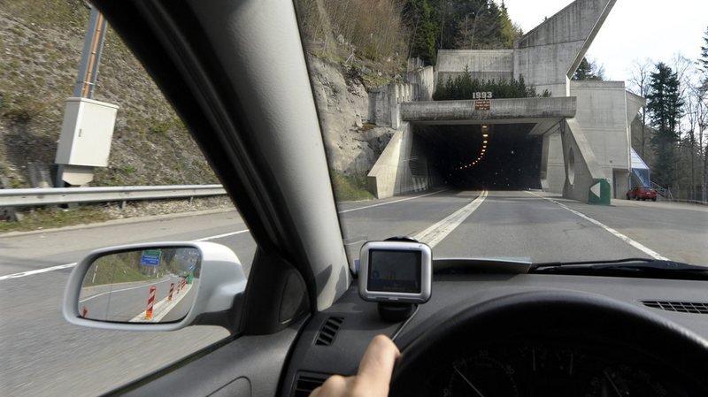 Accident: tunnel de La Vue-des-Alpes fermé direction Neuchâtel