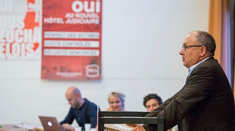 Le conseiller d'Etat vaudois socialiste Pierre-Yves Maillard vendredi soir à Cortaillod.