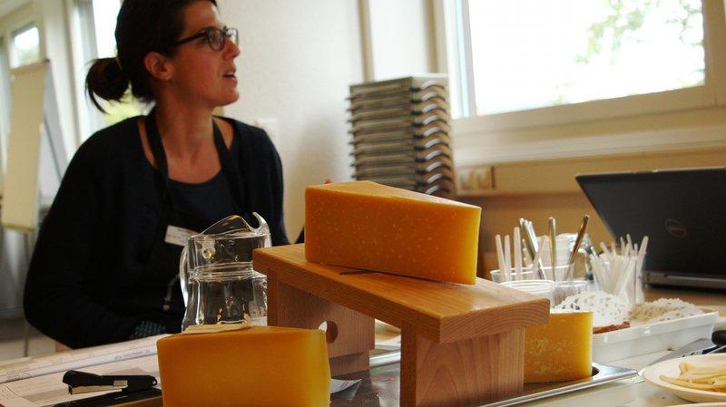 """Les jurés ont évalué des """"Berner Hobelkäse"""", un fromage à pâte extre-dure de l'Oberland bernois"""