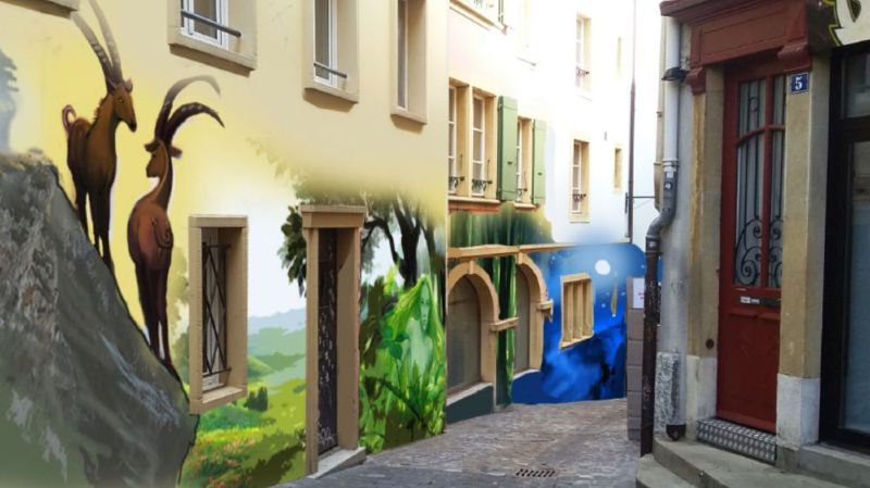 Neuchâtel: une fresque géante sera inaugurée samedi au Neubourg