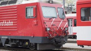 Collision de deux trains en gare d'Andermatt