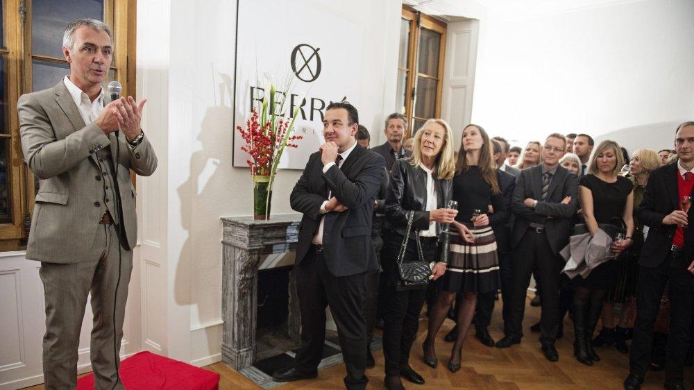 En novembre 2015, le PDG de Ferrier Paris SA lançait son entreprise en présence du conseiller d'Etat Jean-Nat Karakash.