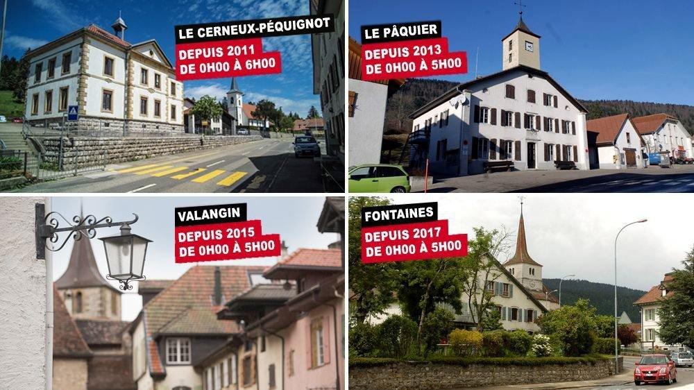 Dans le canton de Neuchâtel, quatre localités pratiquent l'extinction de leur éclairage public.