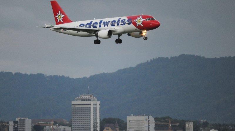 Un problème au train d'atterrissage a contraint l'avion de la compagnie Edelweiss Air à faire demi-tour.
