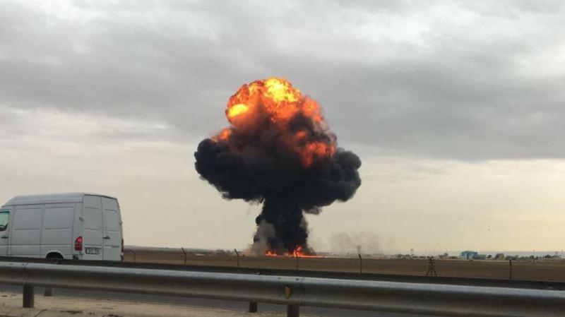 Espagne: un avion de chasse F-18 s'écrase près de Madrid, le pilote tué