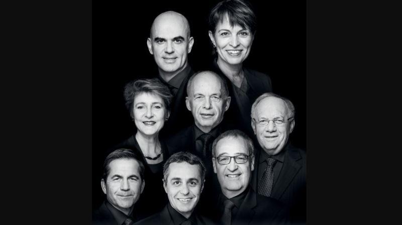 La nouvelle photo officielle du Conseil fédéral, avec Ignazio Cassis