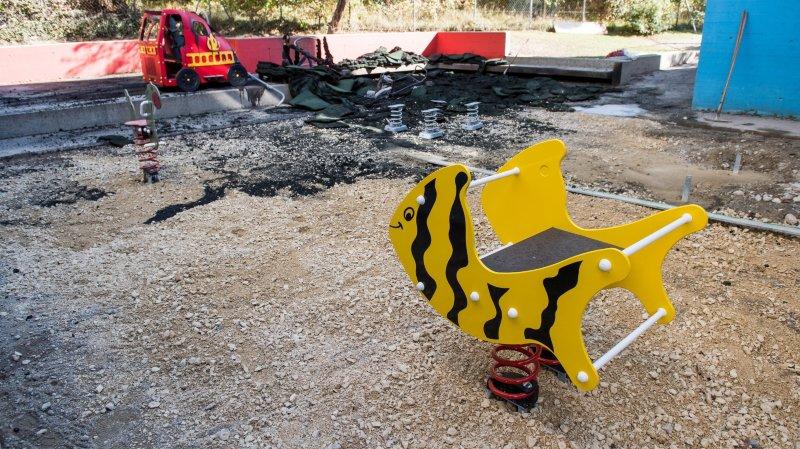 Boudry: la place de jeux du collège de Vauvilliers détruite par le feu