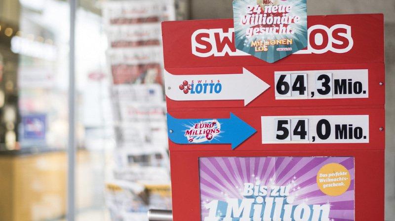 Swiss Lotto: chiffre d'affaire record en 2016 grâce au jackpot de 70 milions