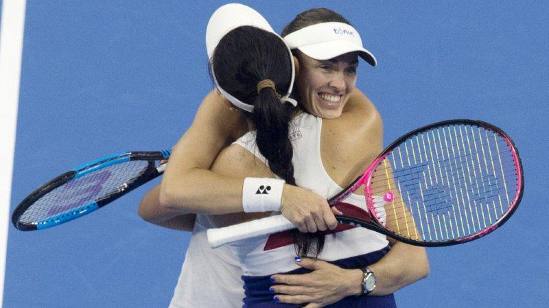 Martina Hingis et sa partenaire Chan Yung-Jan ont remporté neuf titres cette saison.