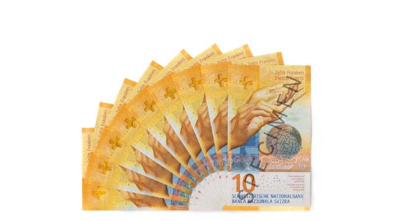 Politique monétaire: le nouveau billet de 10 francs est entré en circulation
