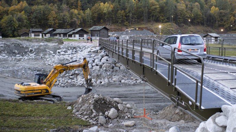 Grisons: le bassin de rétention protégeant le village de Bondo a été déblayé
