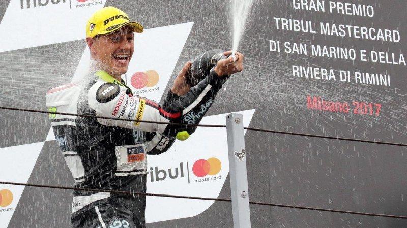 Moto2: Aegerter disqualifié après sa victoire à St-Marin, Tom Lüthi déclaré vainqueur