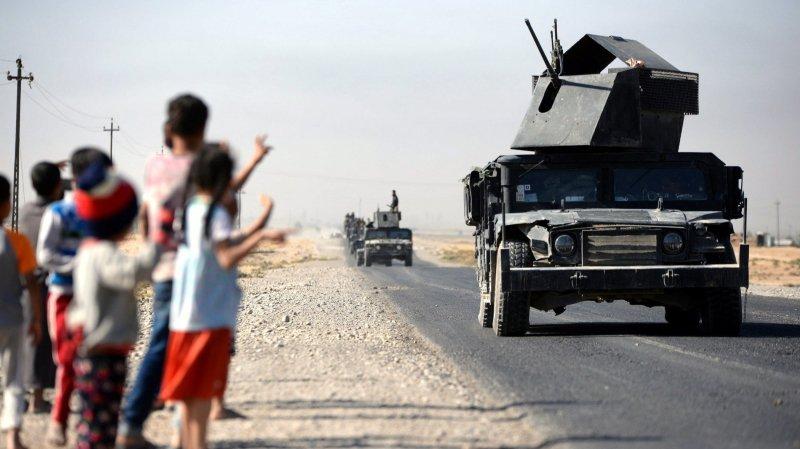 Les forces irakiennes sont entrées en mouvement hier avant le lever du jour avant de progresser à l'intérieur de la ville de Kirkouk.