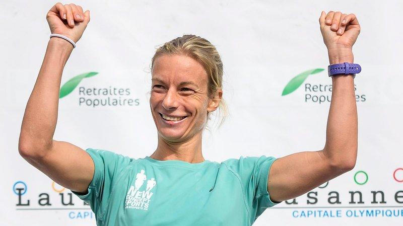 Laura Hrebec était sans rivale  au marathon.