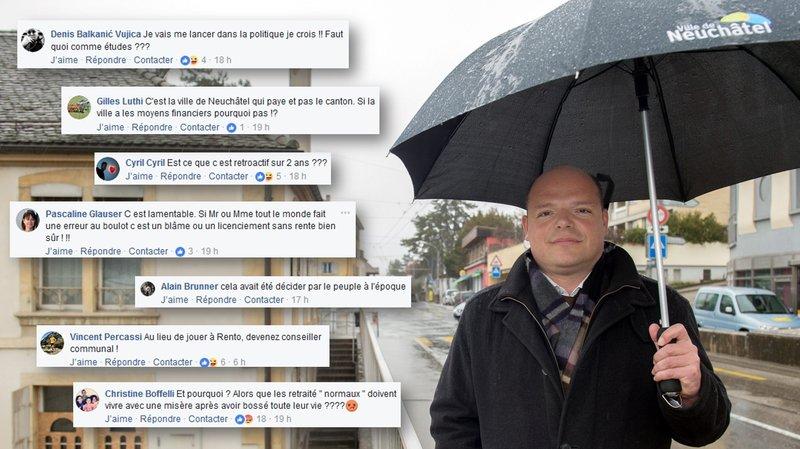 Vos réactions à la rente à vie d'Olivier Arni