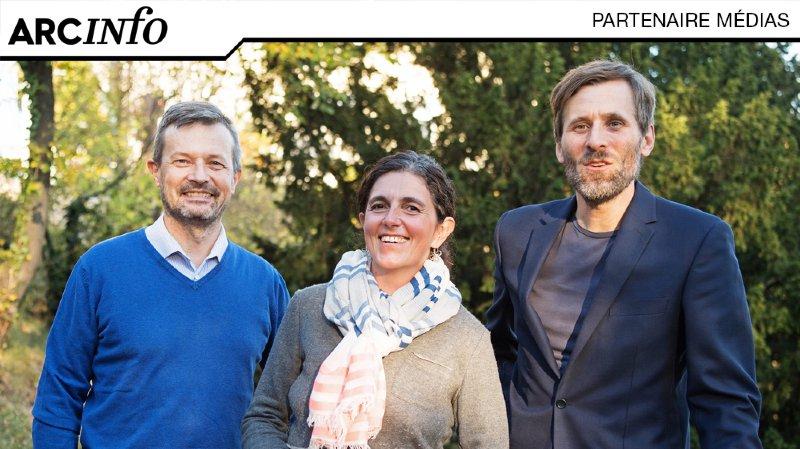 Une partie de l'équipe de la start-up SiMPLInext, de gauche à droite : Patrick Albert, Silvia Angeloni et Kaspar Suter.