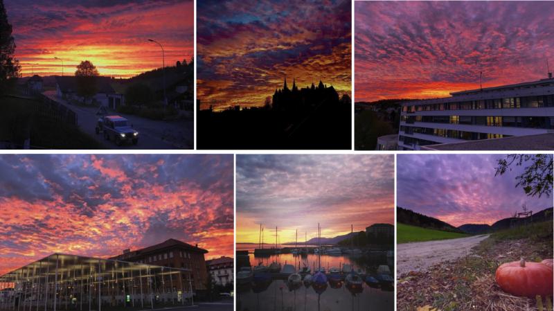 Les couchers de soleil ravissent les Neuchâtelois sur Instagram
