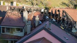 Incendie à Hauterive: les pompiers en intervention toute la journée