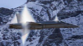 Forces aériennes en démo à Axalp (BE)