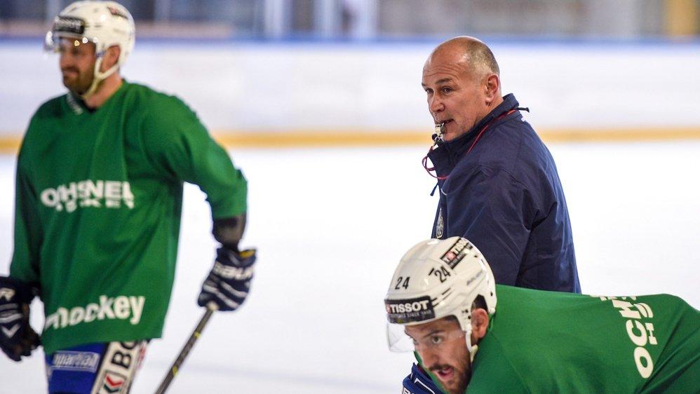 Valeri Chiriaev a dirigé l'entraînement de ce mercredi avec Martin Roh.