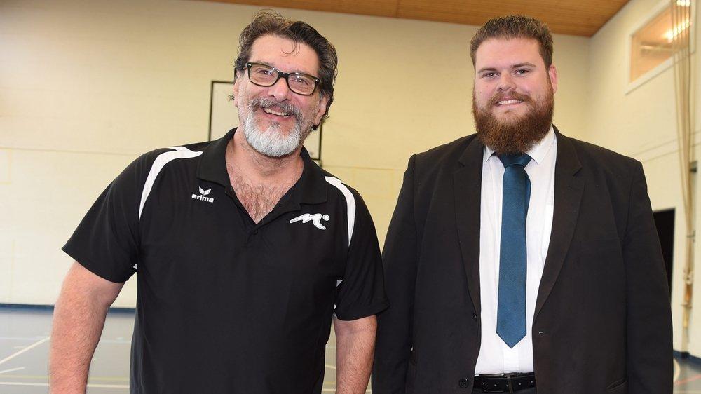 Le président de VFM Loïc Chapuis (à droite) ne s'attendait pas au départ de Romeu Filho.