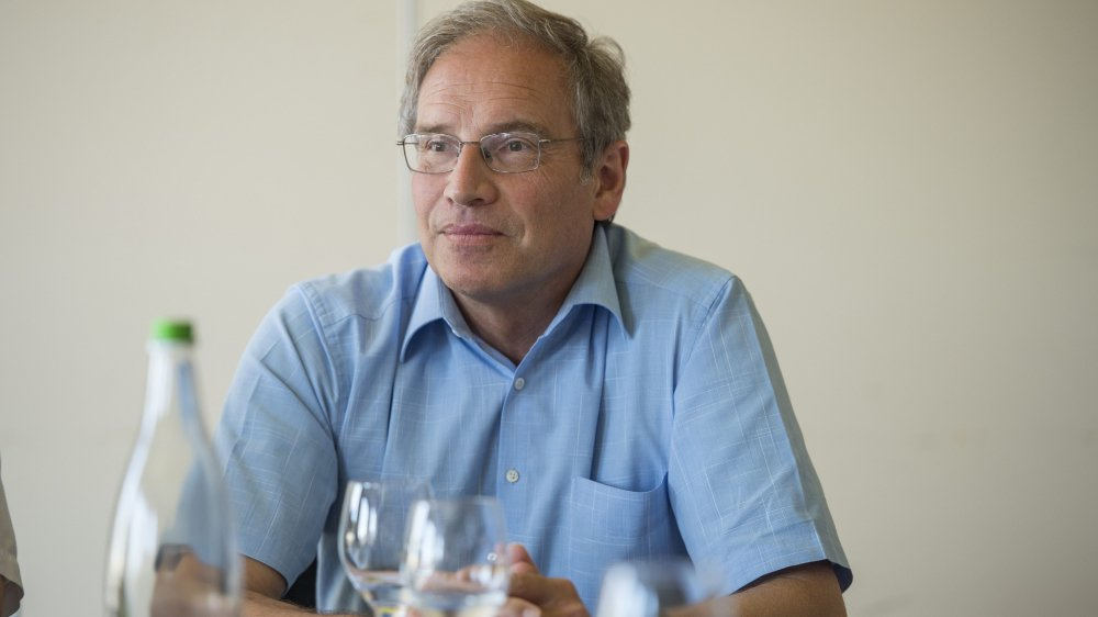 Philipp Niedermann, lors de la création de la section locale du parti Vert'libéral, en 2015.