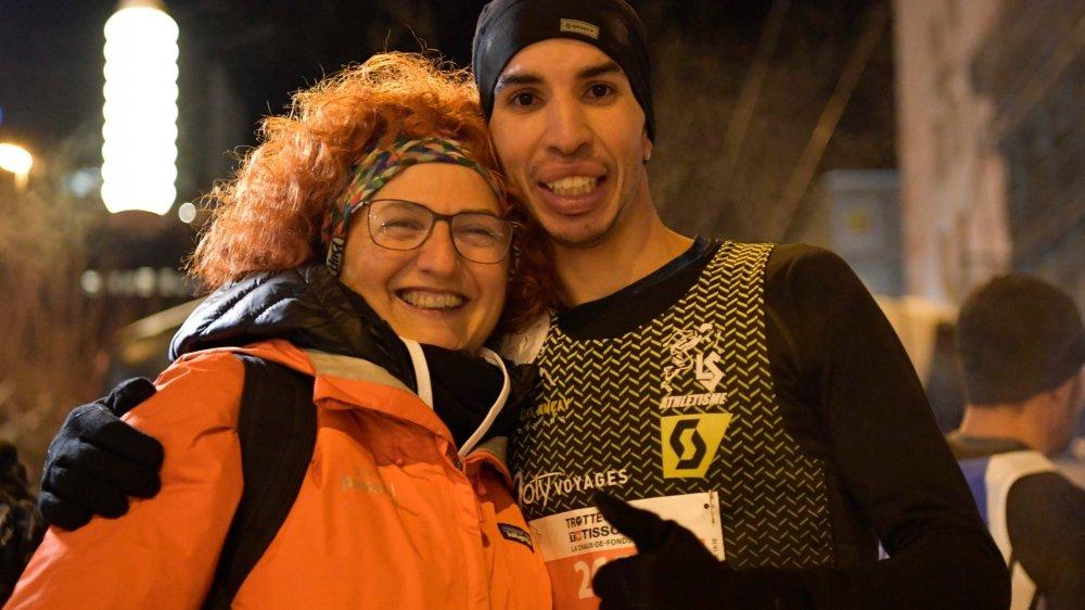 Mohamed Boulama et Brigitte Leitenberg: une édition réussie, tant pour le coureur que pour l'organisatrice.