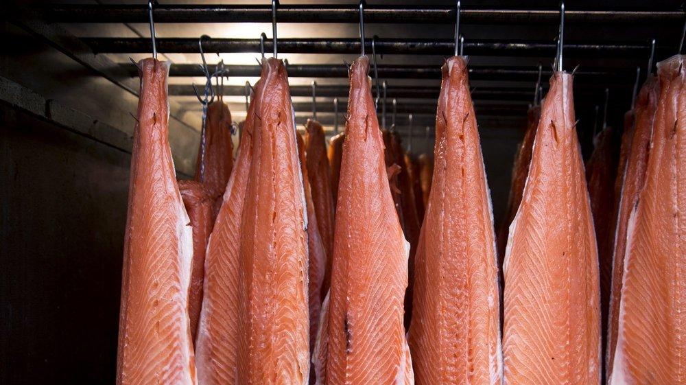 Le saumon avant l'arrivée de la fumée...