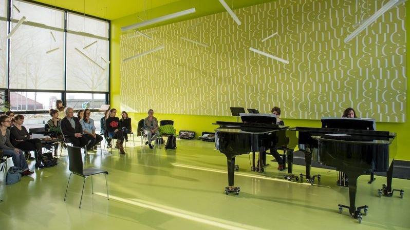 Lors d'ateliers organisés par le conservatoire et la Haute école de musique l'an dernier à Neuchâtel.