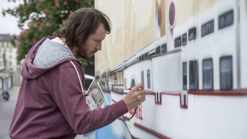 Le graffeur neuchâtelois Kesh s'estime victime de censure