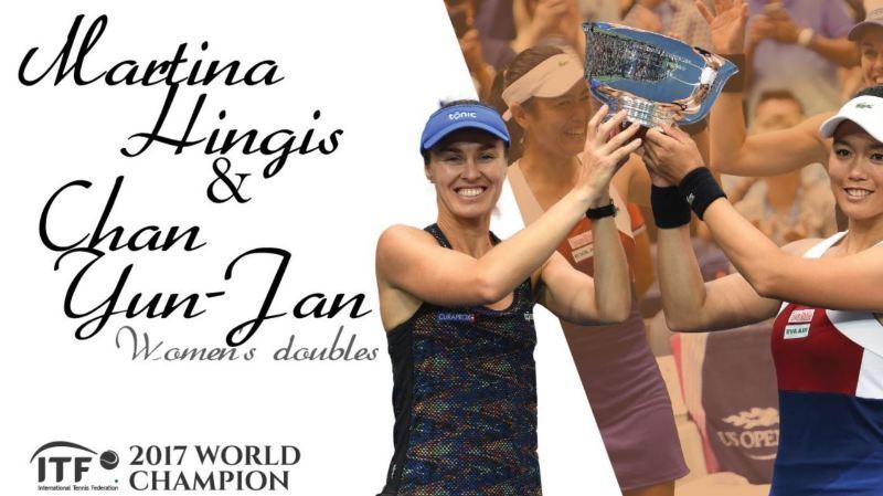 Martina Hingis et la Taïwanaise Chan Yun-Jan ont été proclamées meilleures joueuses de double.
