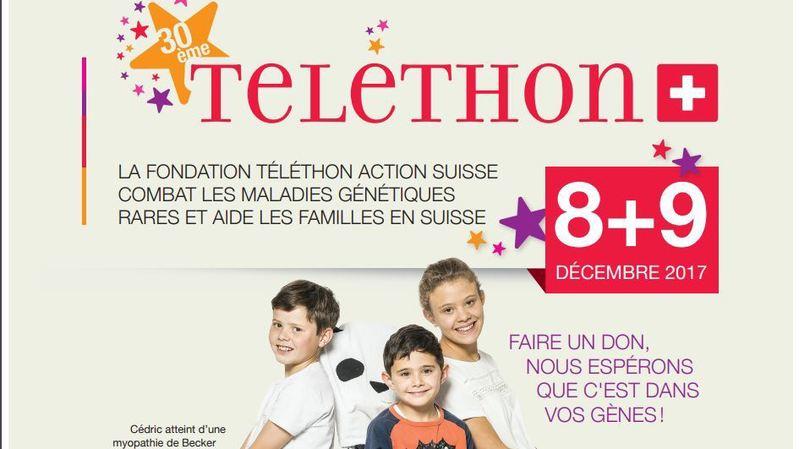 30e Téléthon: plus de 2,4 millions de francs récoltés en Suisse
