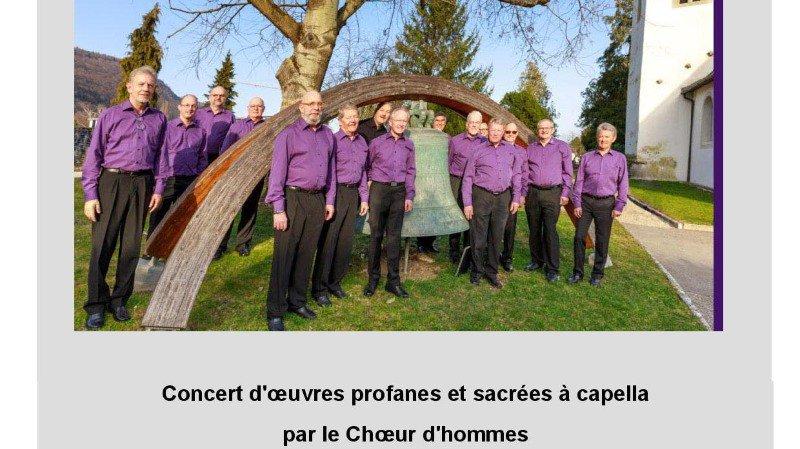 Concert par le Choeur d'hommes Acapel'Hom