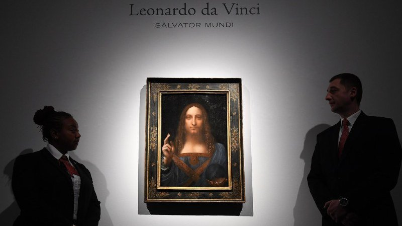 """Enchères: vendu 450,3 millions de dollars, """"Salvator Mundi"""" de Léonard de Vinci devient le tableau le plus cher au monde"""