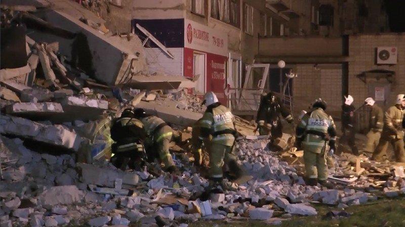 Un immeuble de 9 étages s'effondre en Russie: au moins deux morts