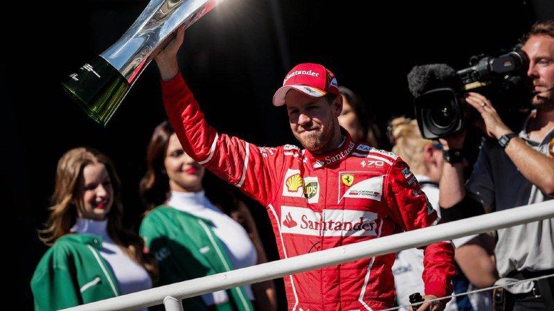 Sebastian Vettel a remporté le Grand Prix du Brésil à Interlagos, fêtant le 47e succès de sa carrière en formule 1.