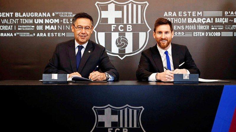 Football: Lionel Messi prolonge avec Barcelone jusqu'en 2021
