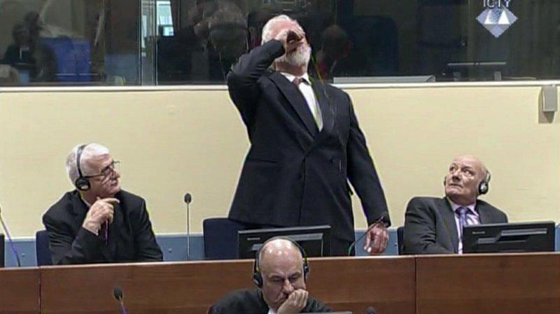 Ex-Yougoslavie: un criminel de guerre se suicide avec du poison durant son procès au Tribunal pénal international