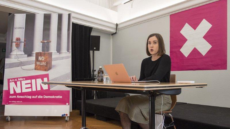 """""""Des médias forts et indépendants sont indispensables dans un pays comme la Suisse"""", a affirmé  mardi la coprésidente d'Operation Libero Laura Zimmermann."""