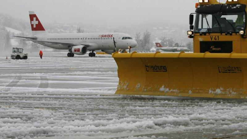 Zurich: le trafic aérien a été perturbé à l'aéroport à cause des intempéries