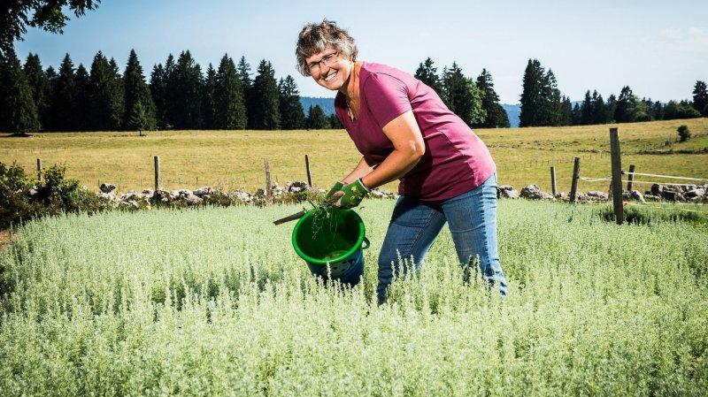 Marlise Baur est heureuse d'avoir vu du pays, mais plus heureuse encore de retrouver son domaine.