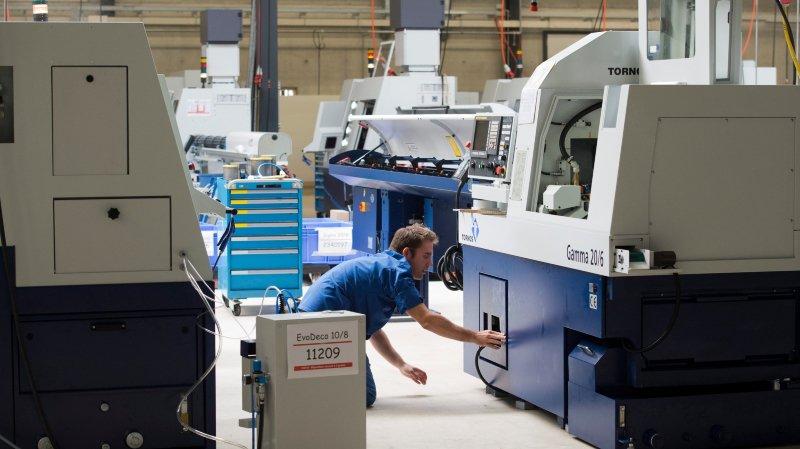 Les industriels du Jura bernois entrevoient une belle embellie (ici, les ateliers de Tornos, à Moutier).