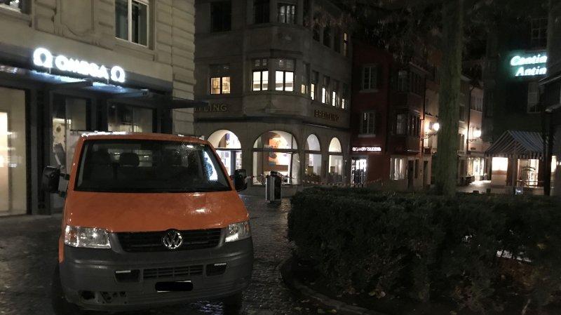 Zurich: ils défoncent la vitrine d'une bijouterie avec une camionnette pour y dérober des montres