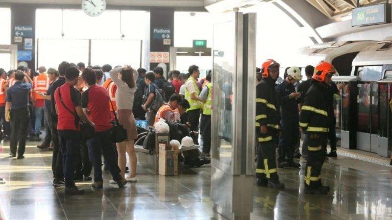 Collision entre deux métros à Singapour: 25 blessés